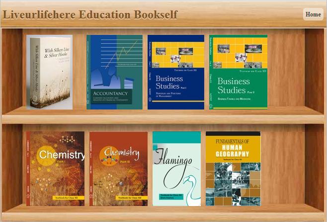 bookshelf of liveurlifehere education