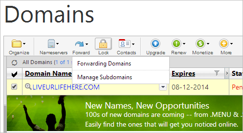 how to make subdomain in godaddy