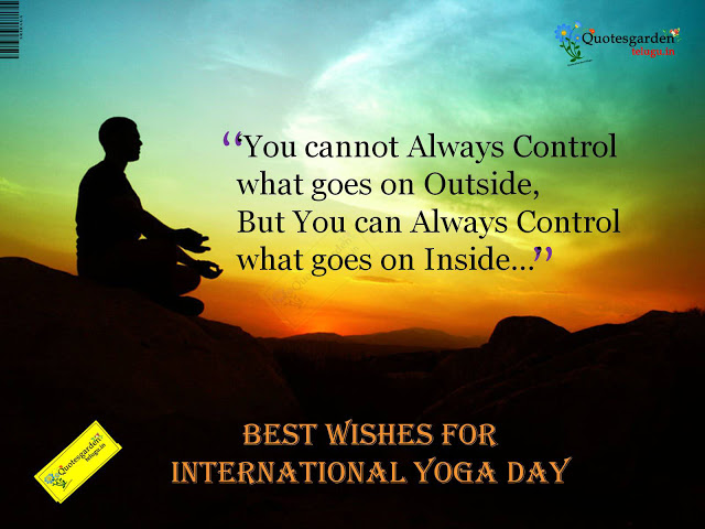 Best wishes for international yoga day