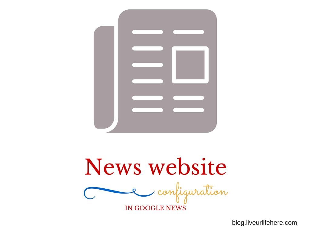 How to configure news website for google news