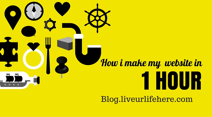 How i make my website in 1hr