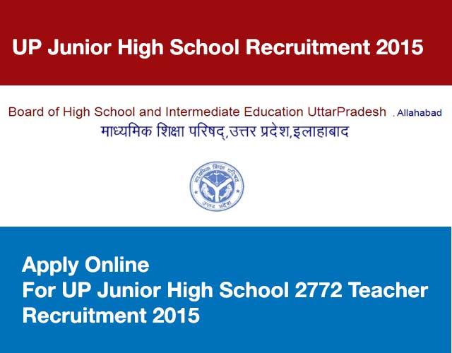 Apply-Online-For-UP-Junior-High-School-2772-Teacher-Recruitment