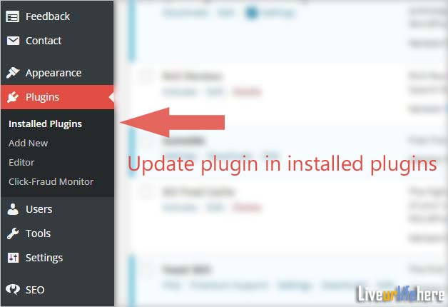 wordpress plugin update-Liveurlifehere